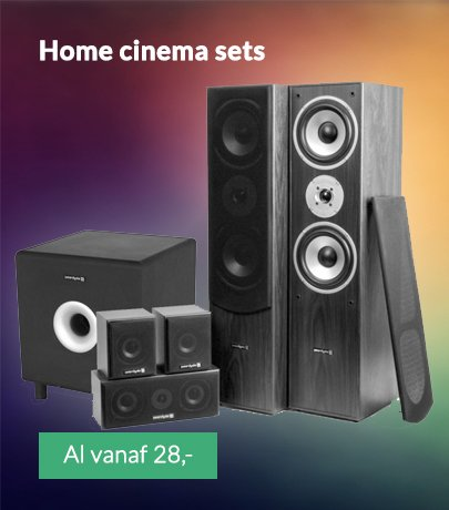 Home cinema sets