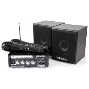 Fenton AV380BT Karaoke set met USB en Bluetooth - Plug&Play