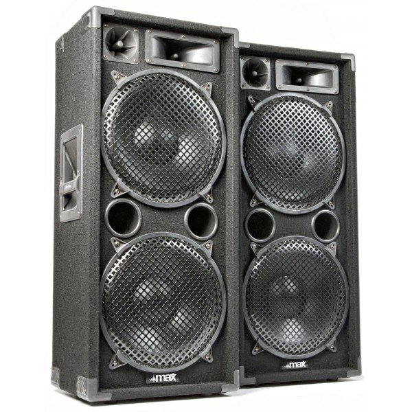 MAX MAX212 2800W Disco Speakerset 2 x 12""