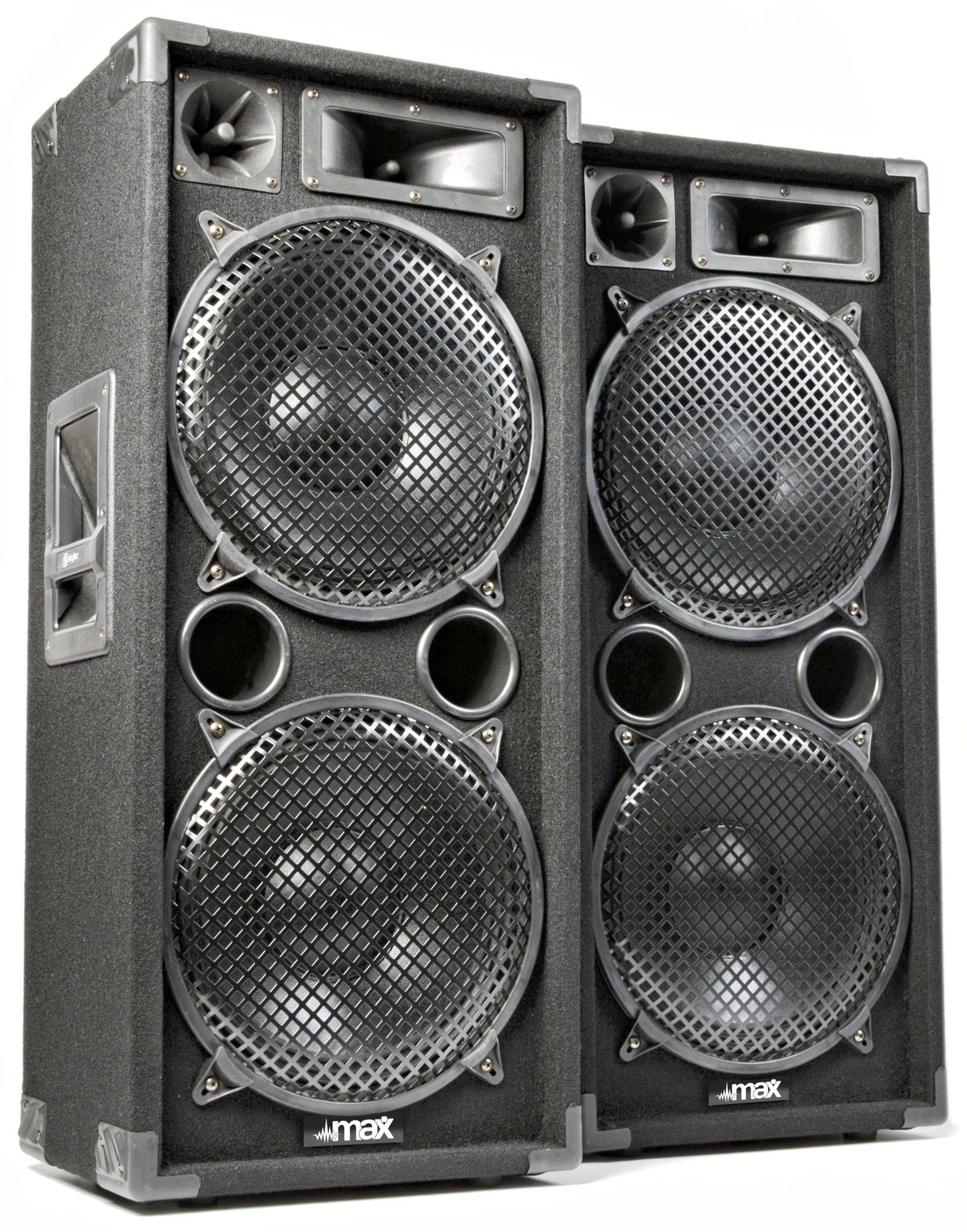 MAX MAX212 2800W Disco Speakerset 2 x 12