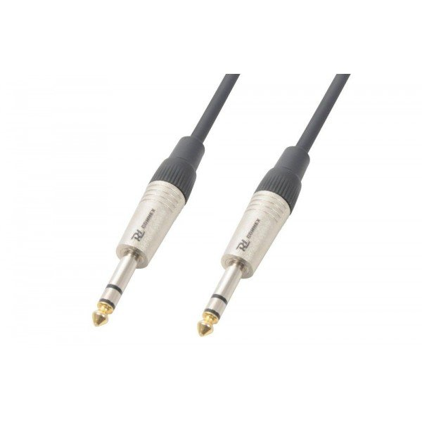 Pd connex kabel 6. 3 stereo - 6. 3 stereo 3 meter
