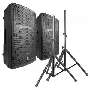 Power Dynamics PD415A speakerset 2800W met standaards