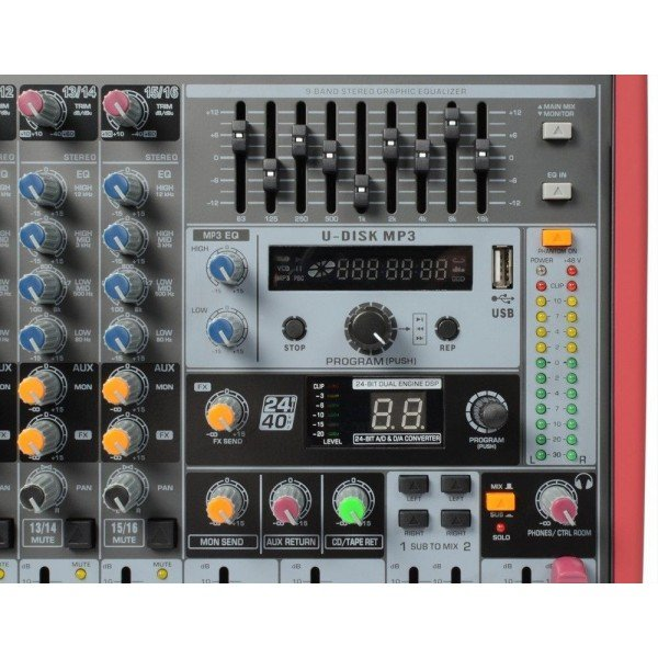 Power dynamics pdm s1203 stage mixer 12 kanaals dspmp3 usb inuit 4