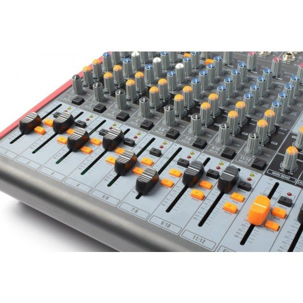 Power dynamics pdm s1203 stage mixer 12 kanaals dspmp3 usb inuit 6