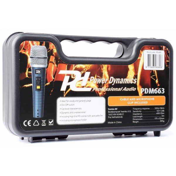 Power dynamics pdm663 professionele dynamische microfoon 3