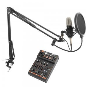 Vonyx Podcast Studiomicrofoon Set met USB Mixer