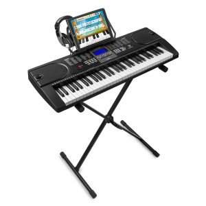 MAX KB1 beginners keyboard incl. keyboardstandaard en koptelefoon
