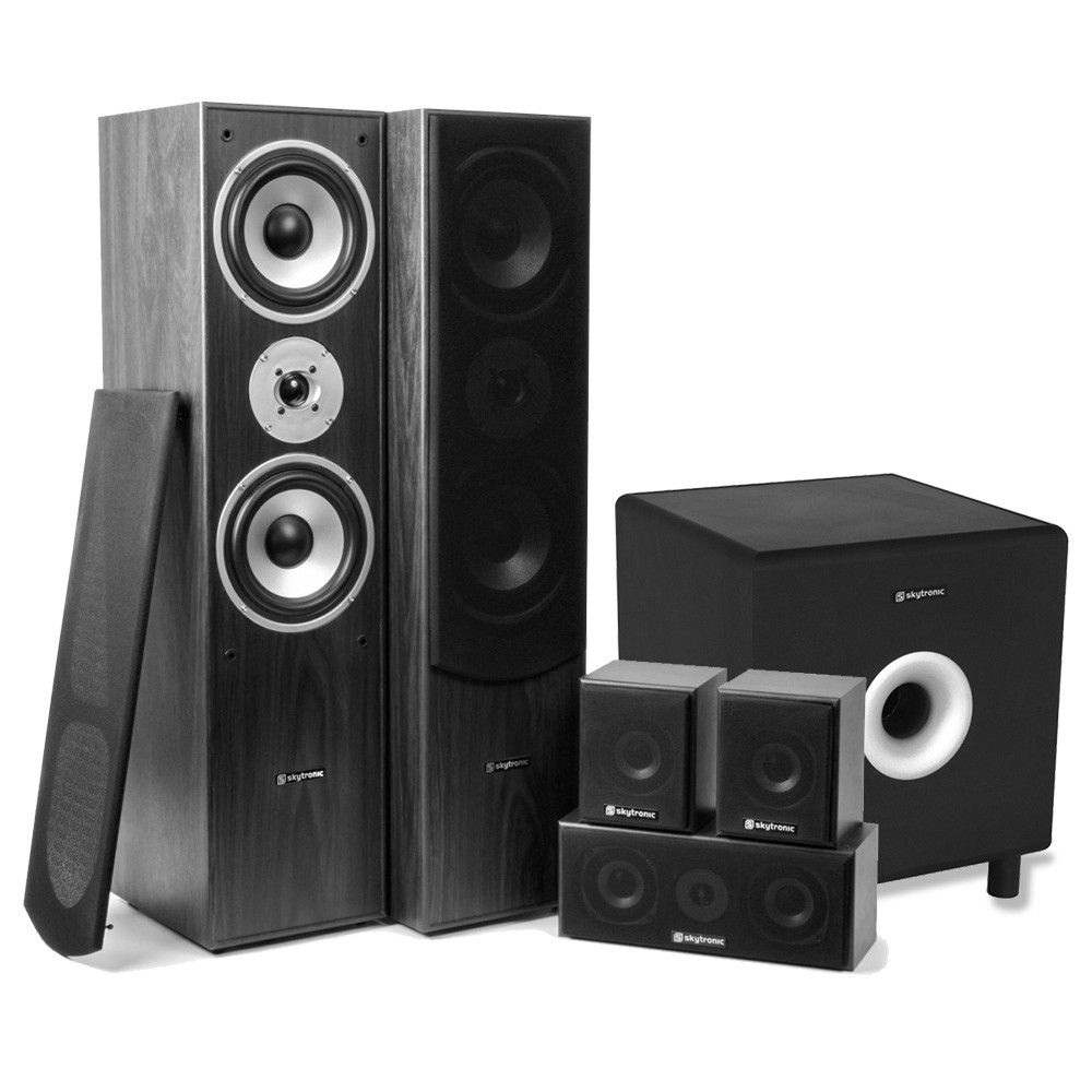 SkyTronic 5.1 home cinema surround speakerset 1300W met 10
