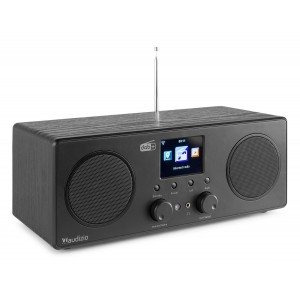 Audizio Bari DAB radio met Bluetooth en wifi internet radio - Zwart