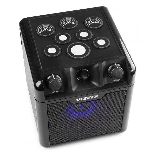 2e keus vonyx sbs50b drum karaoke set met microfoon bluetooth en 7